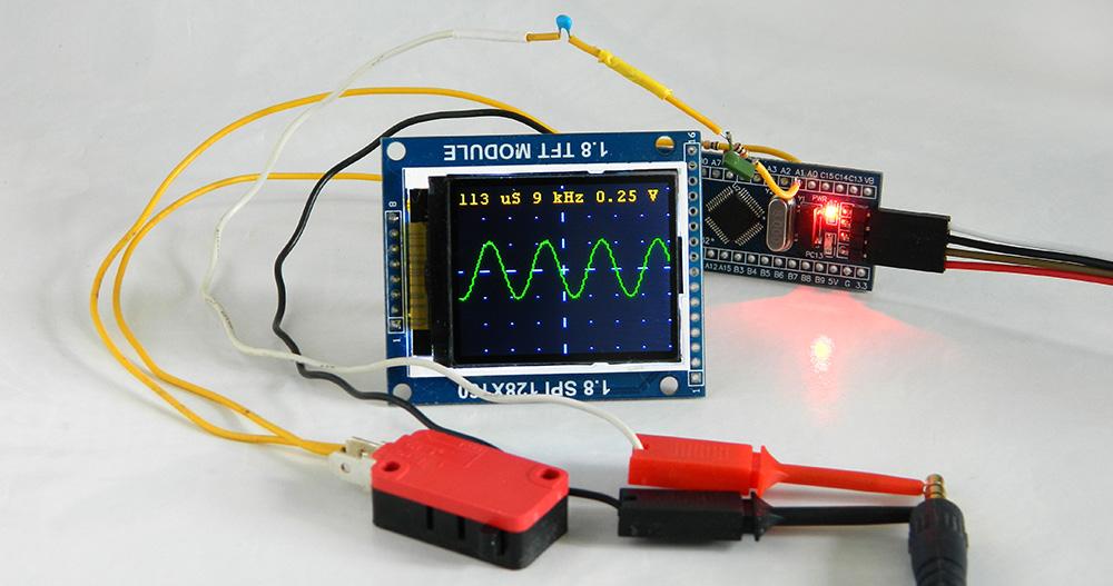 Самодельный осциллограф на микроконтроллере stm32
